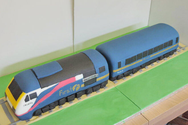 High speed train cake