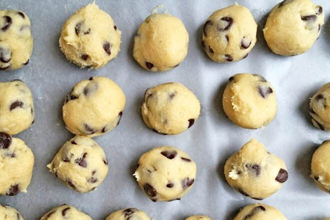How to freeze cookie dough - ideas for school lunch boxes.