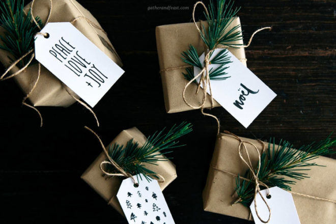 Free Christmas gift tag printables from Gather and Feast