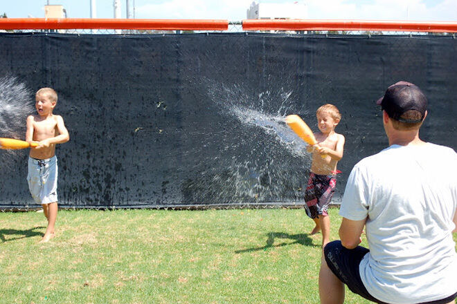 Batting practice with water