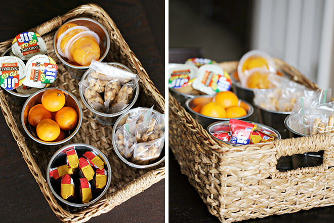 Lunch box station - ways to pack an awesome lunch box.