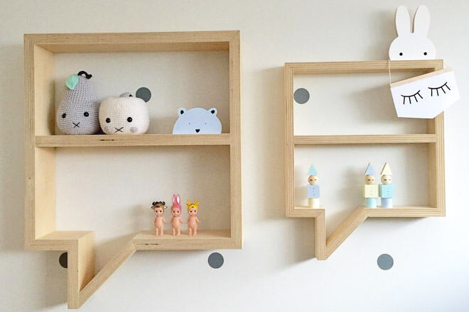 Speech bubble shelf by Mr Shelfie Designs