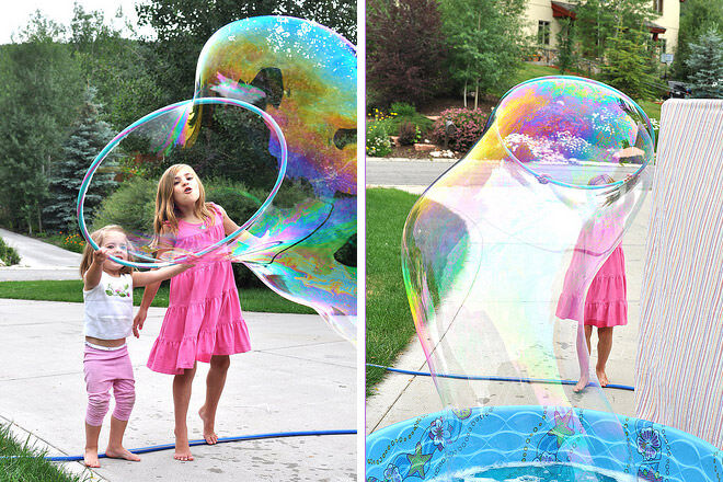 Giant bubbles, New year's eve 2016 kids activities ideas