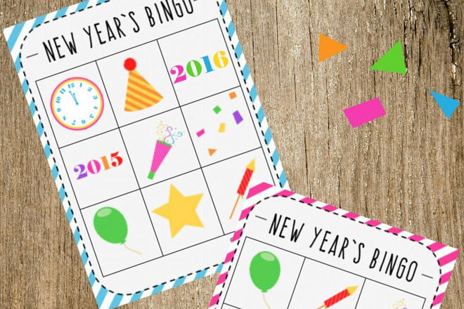 Bingo, New year's eve 2016 kids activities ideas