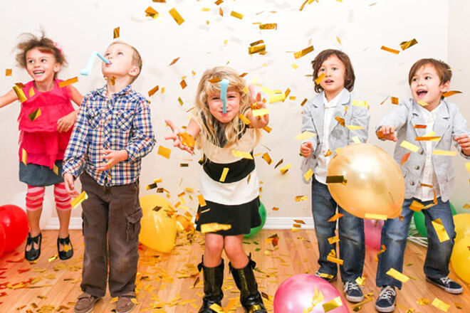DIY balloon drop, New year's eve 2016 kids activities ideas