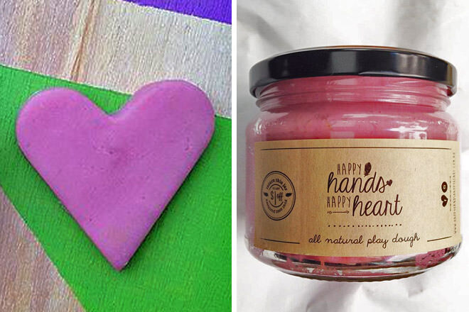 Happy Hands Happy Heart natural play dough