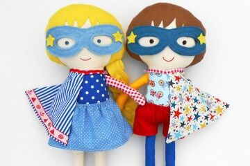 LaLobo Studio Etsy Superhero Dolls