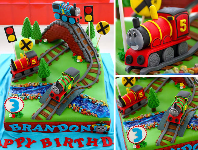 Inspiration for your next train cake.