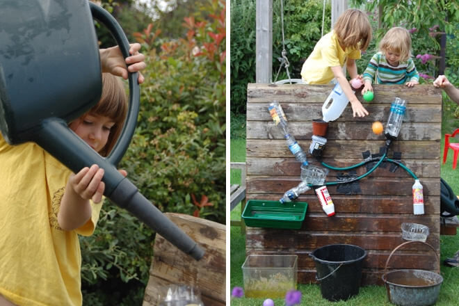 Construct a water wall on a hot day for heaps of fun with the kids