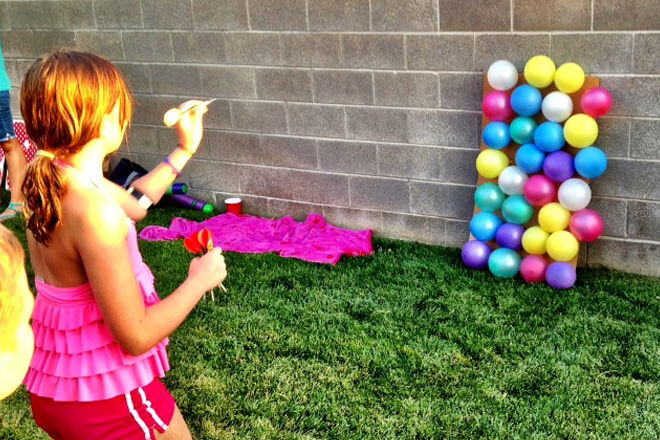 Water balloon darts - a great game for a hot day