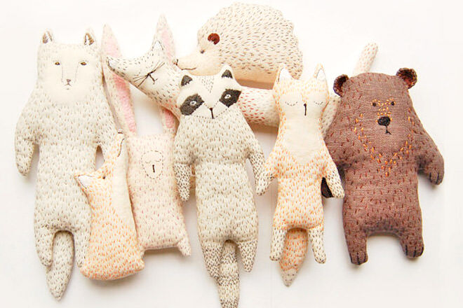 WoodlandTale handmade soft toy for baby