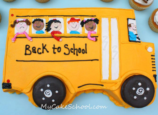 Back to school cake - ways to celebrate going back to school.