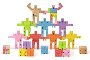 Wooden stacking blocks