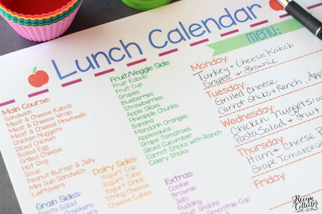 Lunchbox planner - keep on top of lunch box stress and plan an awesome lunchbox.