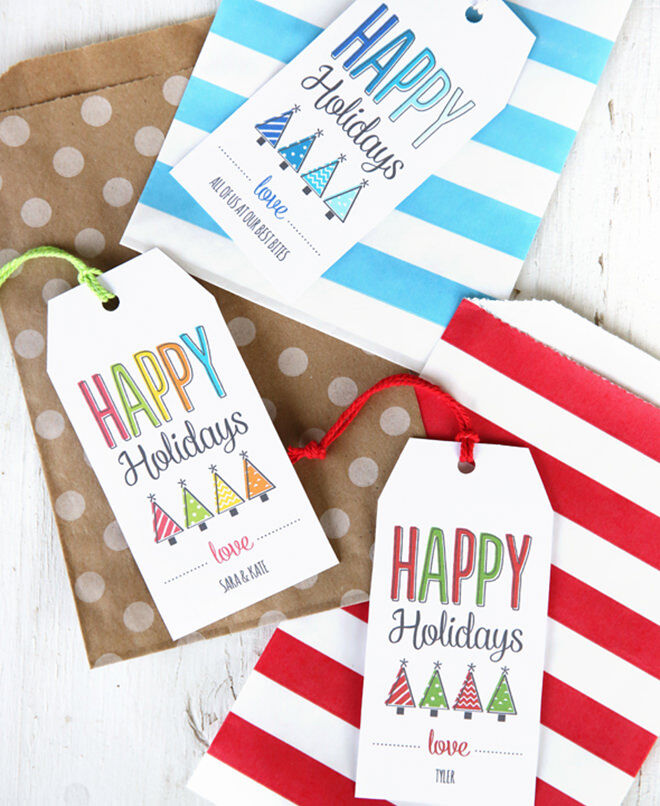 Christmas tags you can print yourself for free