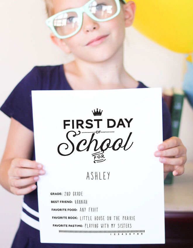 Take a survey - how to celebrate the kids first day at school.