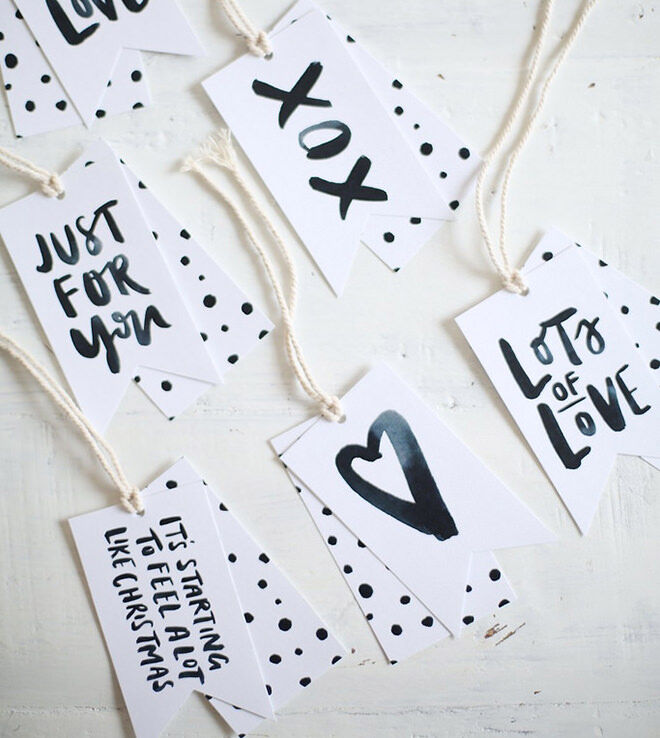 Christmas gift tags you can print for free.