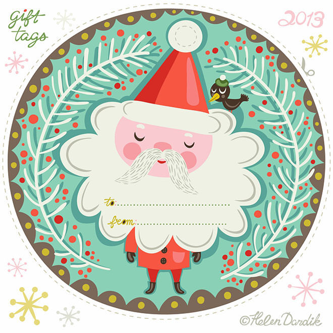 Christmas tags you can print for free.