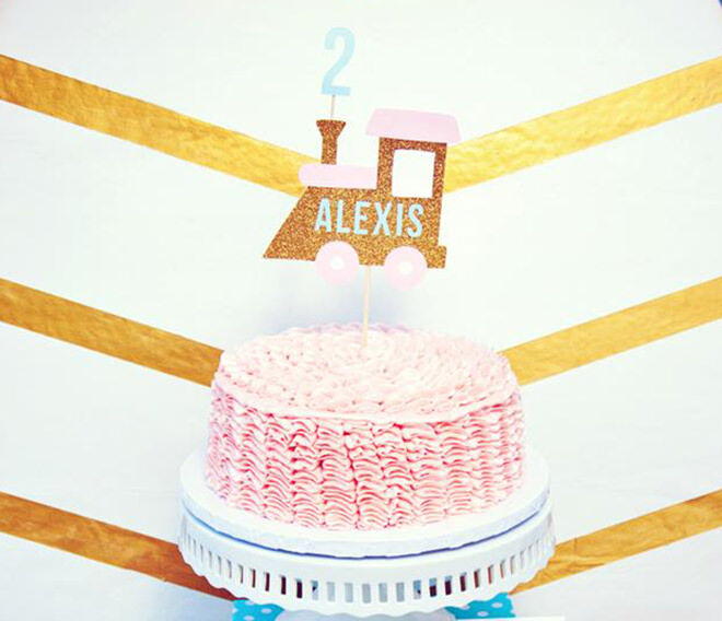 Glam train cake - inspiration for your next train cake.