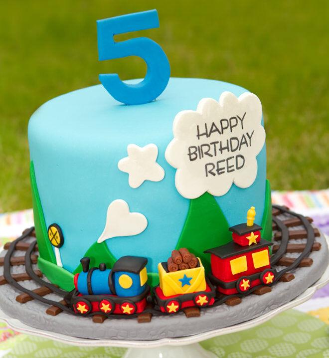 Diy Thomas The Train Birthday Cake