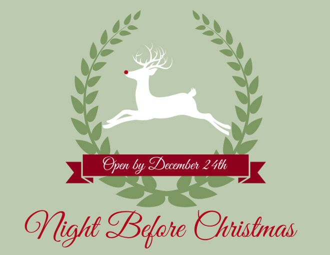 Free Printable Night Before Christmas Box Label