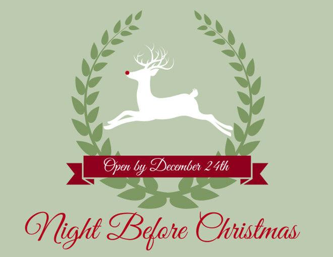 Free Printable Night Before Christmas Box Label
