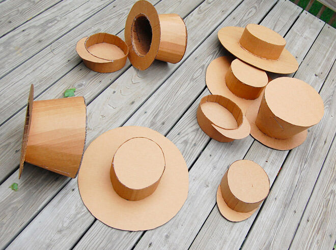 Cardboard hat craft activity