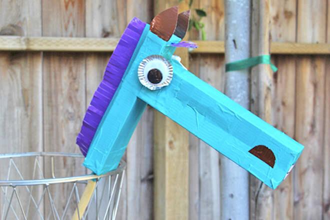 Cardboard hobby horse
