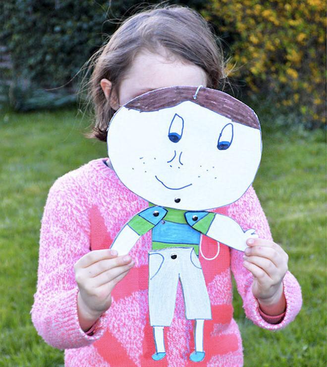 Cardboard puppet activity
