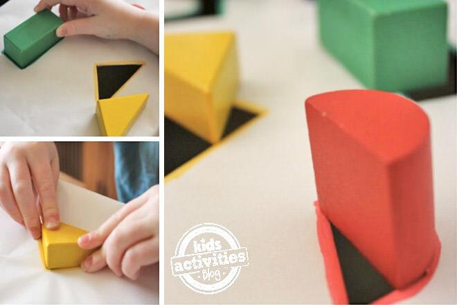 Cardboard shape sorter