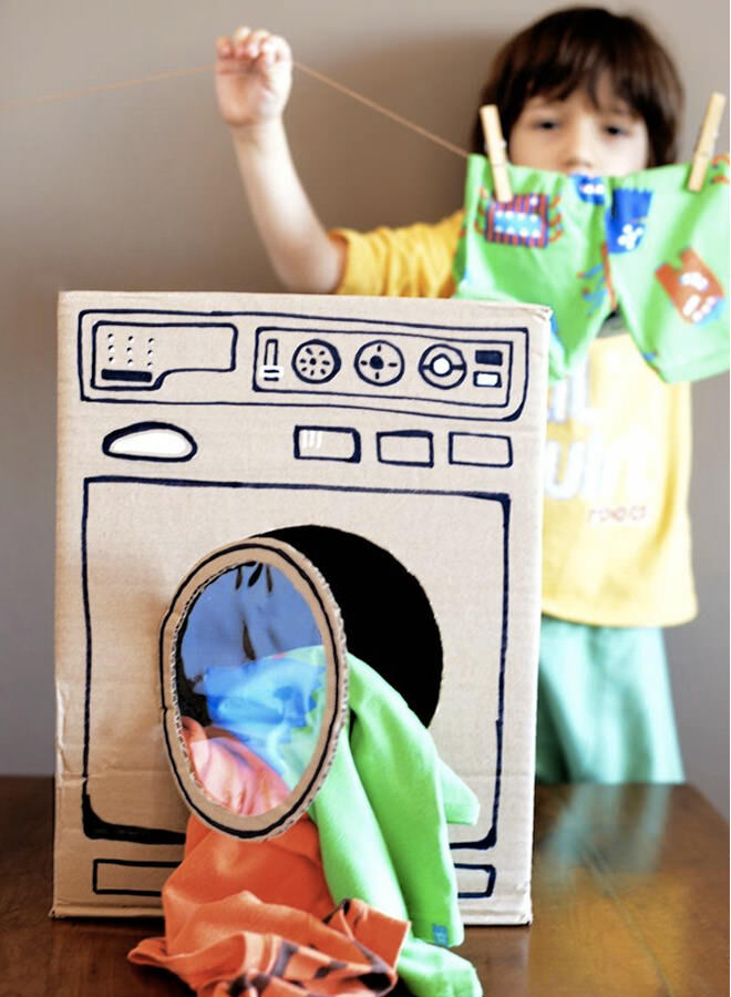 Cardboard washing machine
