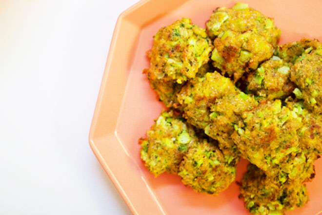 Chicken and veggie nuggets