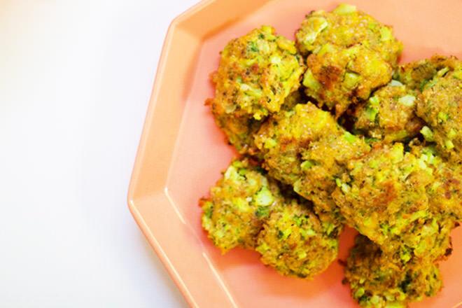 Chicken and veggie nuggets