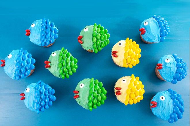 Fun fishy cupcakes