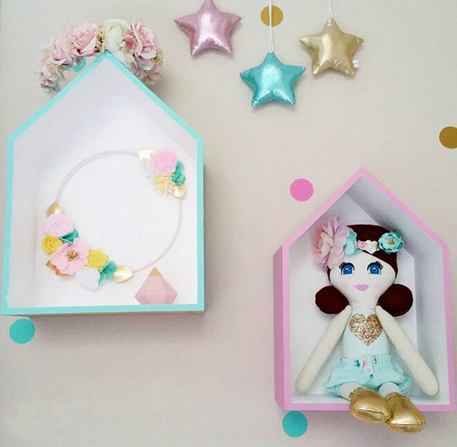 Kmart Shadow Boxes hack - beautiful pastel frames for girls room
