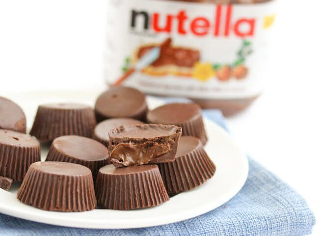 Nutella chocolate cups