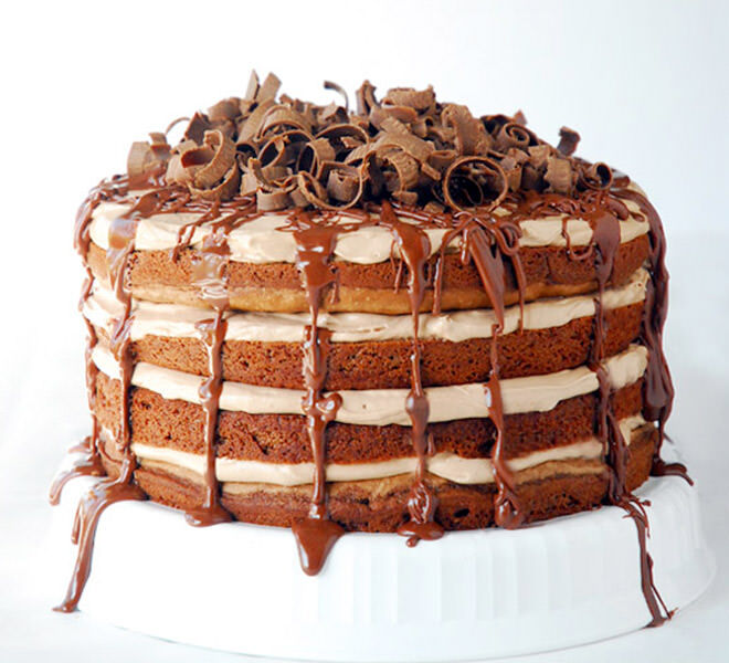 Chocolate Nutella torte celebration cake
