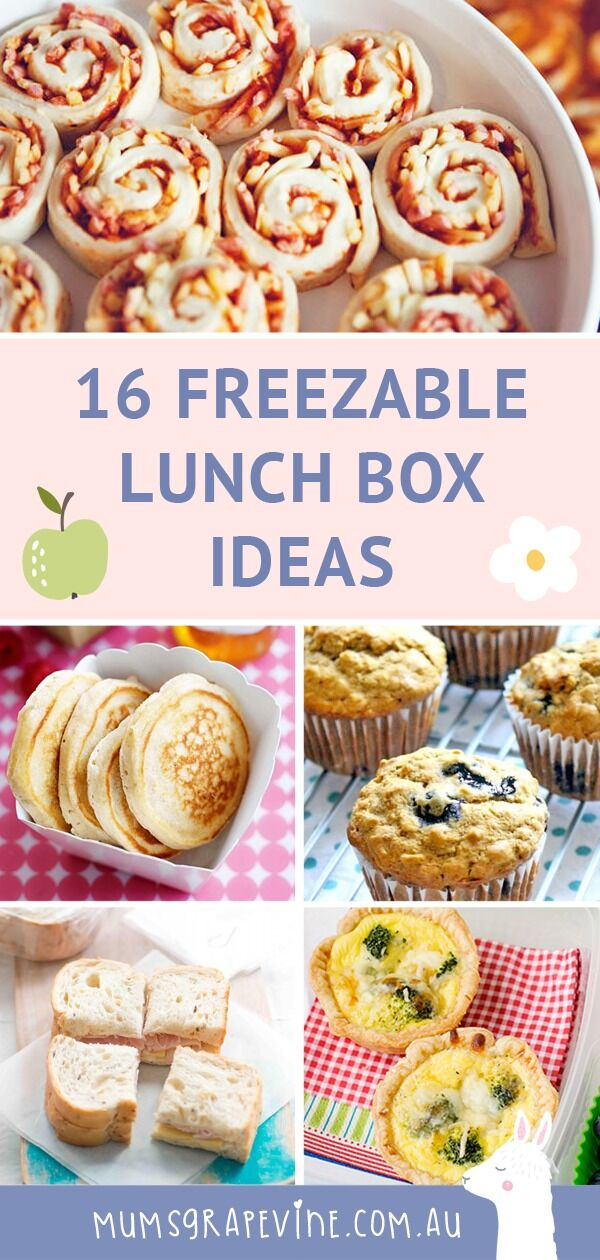 Freezable lunch ideas