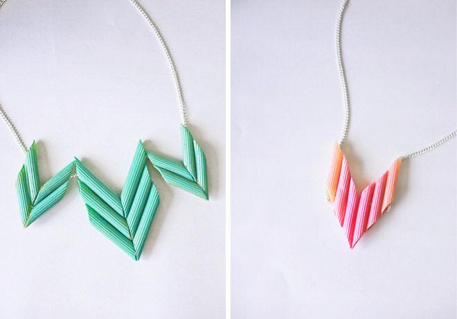 Penne pasta necklace