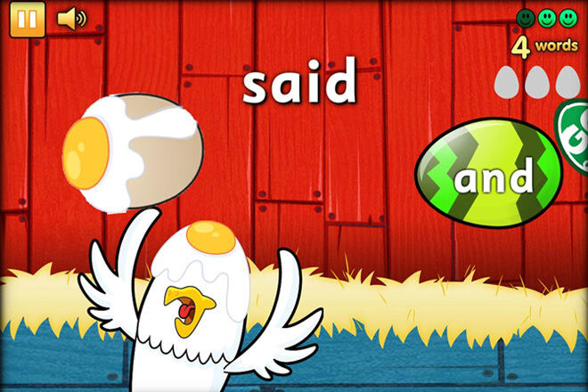 Eggy Words app by ABC Reading Eggs