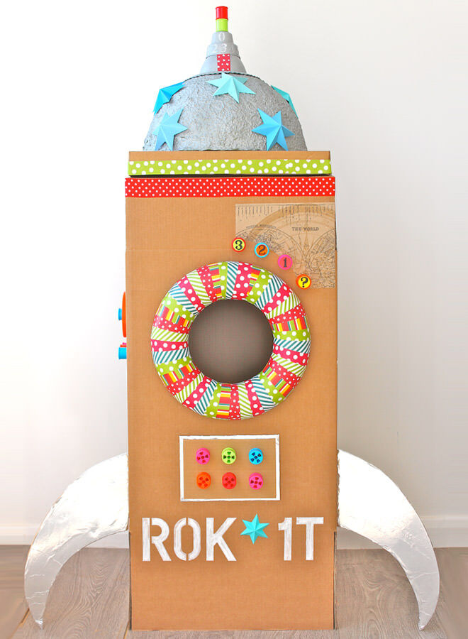 Cardboard rocket fort