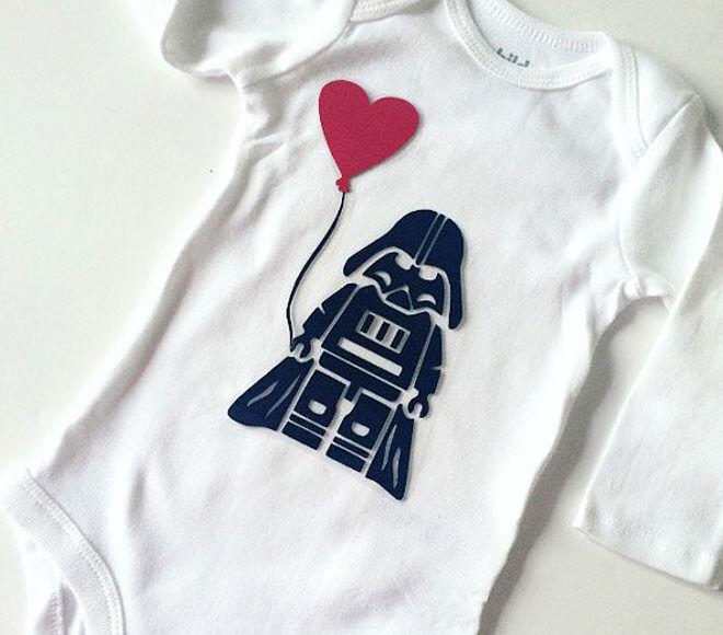 Star Wars Valentine's Onesie from Amore Bowtique