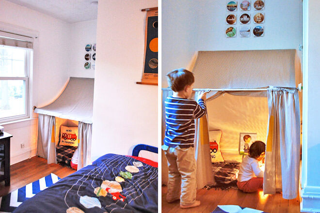 Wall nook bedroom fort