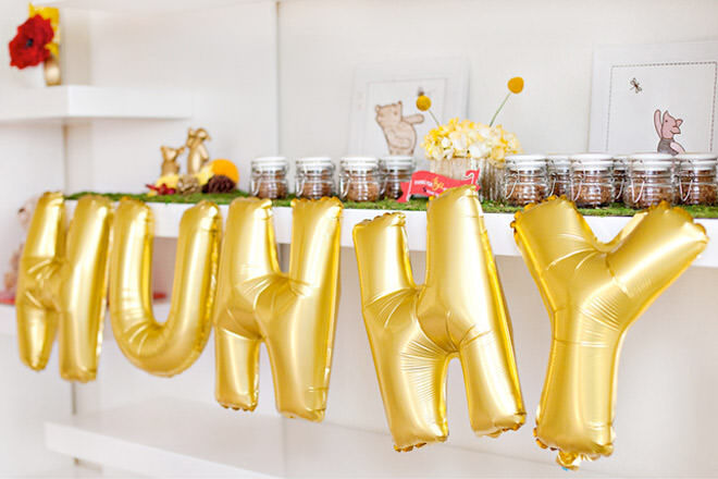 Winnie the Pooh party balloons