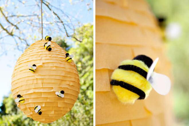 Winnie the Pooh party bee hive piñata