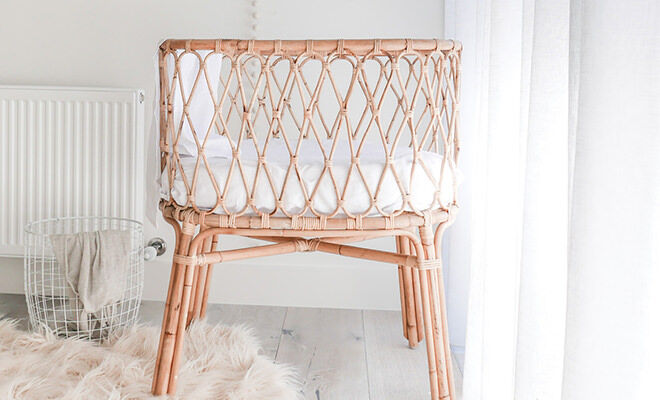 Down to the Woods Rattan Bassinet