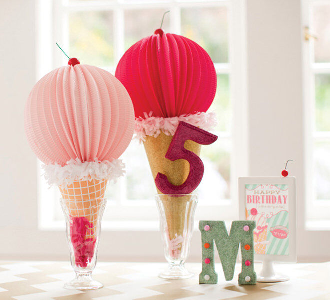 Ice cream decorations - how to throw a deliciously fun ice cream party.