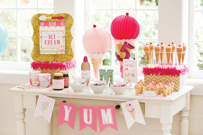 How to throw a deliciously fun ice cream party.
