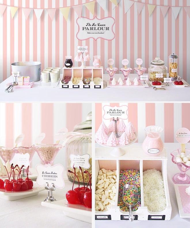 Ice Cream Sundae Bar - how to throw a deliciously fun ice cream party.