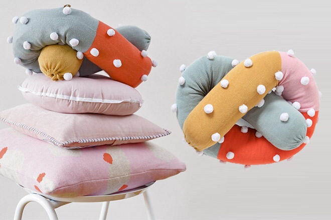 Arro Home pretzel cushion